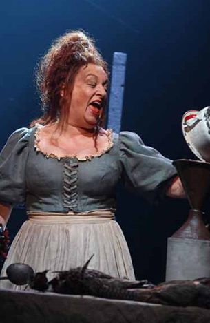 Rachel Izen as Madame Thenardier in Les Miserables on Broadway