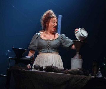 Rachel Izen as Madame Thénardier in Les Miserables on Broadway
