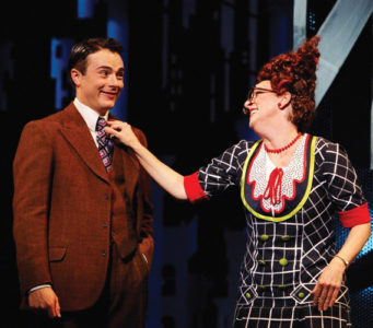 Rachel Izen as Miss Flannery with Mark McGee in Thoroughly Modern Millie