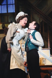 Rachel Izen as Mrs. Brill and Dennis Moench as Robertson Ay in Mary Poppins