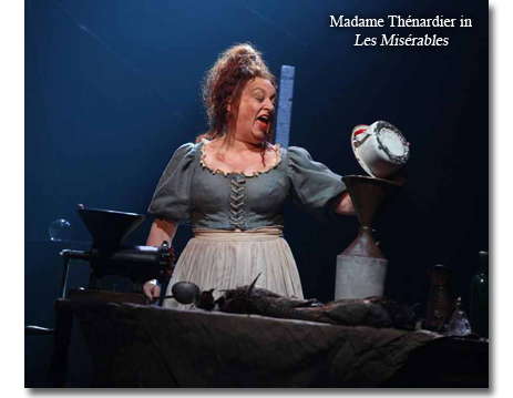 Rachel Izen as Madame Thenardier in Les Miserables